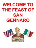 Welcome to San Gennaro Feast